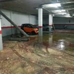 Recogida de aguas residuales por roturas